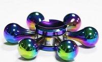 Wholesale Toy Demon - Hot Rainbow Color White Bone Demon Six Arm King Kong Fidget Spinner Colorful EDC Gyro Toys Hand Spinner Fidget Aluminum Fidget colorful