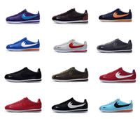Wholesale Basic Fabric - Classic Cortez Basic Leather Casual Shoes Cheap Fashion Men Women Black White Red Golden Skateboarding Sneakers Size 36-44