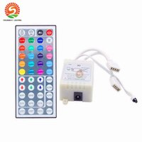 Wholesale Mini Controler - 44 Keys LED IR RGB mini Controler For RGB SMD 3528 5050 LED Strip LED Lights Controller IR Remote Dimmer Input DC5V 12V24V