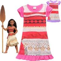 Wholesale Wholesale Beautiful Short Dresses - 2 Colors Wholesale New Moana Girls summer dress children lace dresses cute baby girls skirts kids beautiful clothing