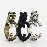 Retro Style Vintage 3 colori Affenpinscher Animal Ring Fashion Cool Dog Ring regolabile per gioielli donna uomo Best Friend Punk