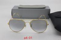 4c04e216bbf Wholesale 5 pcs high quality designer sunglasses men and women 100%  aluminum frame glass lenses gradient gold anti-HD pilots