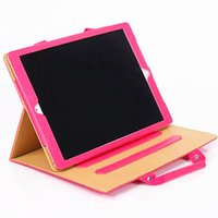 Wholesale Leather Handbag For Tablet - Tablet PC Cover Case PU Leather Handbag Design Shockproof UNBreak Stand Holder Case for IPAD 2 3 4 MINI4 mini1 2 3