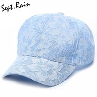 Wholesale Lace Snapback - Wholesale- [Sept.Rain] New Ladies Snapback Lace Hats Adjustable Casual Style Spring Summer Feminina Lace Floral Baseball Caps for Women