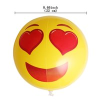 Conjunto de 6 pcs PVC Emoji Face Ball com 6 Designs For Beach Game Sports Have Fun Frete Grátis
