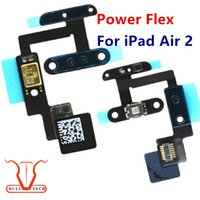 Wholesale Microphone Parts - Power ON OFF Button Switch Flex Cable Microphone Mic Flex For Apple iPad Air 2 iPad 6 6th Parts Replacement DHL Free Shipping