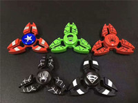 Wholesale Superman Best Toys - EDC Characters Super Hero USA Captain Superman Spiderman Fidget Hand Spinner Spinner Gyro Metal Finger Gag Toy Decompression Best Kids Gift