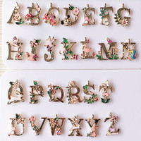 Wholesale Ornaments For Cell Phones - 26 Letters Alloy Pendant Bracelet Necklace Pendant DIY Hair Ornaments Accessories Jewelry Accessories Cell Phone Pendant