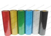 "Wholesale vinyl glitter - Fast Free shipping HOT DISCOUNT 6 pieces 20""x20"" (50cmx50cm) PET Glitter vinyl for heat transfer heat press cutting plotter MYY"