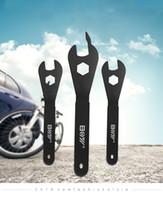 ingrosso coni esterni-Portable Outdoor Cone Spanner Wrench Spindle Axle Attrezzo bici da bicicletta nero Acciaio al carbonio Comodo e rapido Alta praticabilità 6qt J1