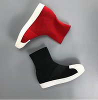 Wholesale Korean Ankle Boots Free Shipping - European station 2017 fall Korean version, shell head knitting sweater, short sleeve, elastic ankle boots, leisure free shipping