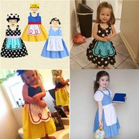 Vestiti da neonati INS Baby Cartoon Bianco Neve Principessa Alice Suspender Dress Bambini abito da sera Backless Uniforme Uniforme abiti liberi 272