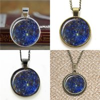 Pendant Necklaces space earrings - 10pcs Space Universe Jewelry Galaxy Pendant Star Pendant Astronomy Necklace keyring bookmark cufflink earring bracelet