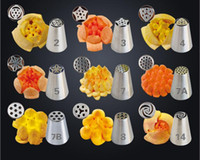 Wholesale Flower Decorators - 36 style 430 Stainless Steel Russian Tulip Nozzles Fondant Icing Piping Tips Pastry Tubes Set Cake Decorating Tools Rose Flower Shaped