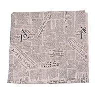 telas de zakka al por mayor-Patrón Periódico Hoomall 1PC 97x50cm Zakka de la vendimia de lino natural de la tela de algodón que acolcha remiendo DIY de costura de la tela del