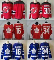 Wholesale Leafs Toronto - 2017-18 New Style Toronto Maple Leafs #16 Mitch Marner 34 Auston Matthews Blue White New Jersey Devils #30 Martin Brodeur Stitched
