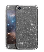 Glitter Phone Sticker pour Iphone 7 6 6s Plus Sumsang S7 Huawei Bling Shining Soft TPU Colorful Front and Back Sticker avec package de vente au détail