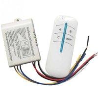 interruptor de controle sem fio digital venda por atacado-Venda por atacado - 220V 1 2 3 canais maneira Digital sem fio lâmpada de parede casa interruptor de corredor caixa de divisor durável controle remoto