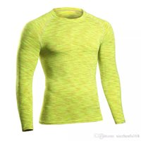 Wholesale Tunic Collar Sleeve - PRO Fitness Clothes Tights Long Sleeve Running Stretch Quick Dry T-Shirt Breath Tunic Collar