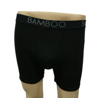 Wholesale Mens Underwear Boxers Bamboo - Boxers Solid Style Mens Underwear Black Bamboo Fiber Comfortable Slim Fit Mens Underwear for Men Everyday