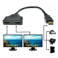 HDMI splitter hdmi converter - HDMI Male to HDMI Female in out Splitter Black Cable Adapter Converter BDS