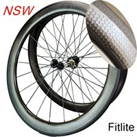 Wholesale Carbon Road Bikes Wheelset - Tubeless New 2 year warranty 58mm dimple wheelset 45 404 carbon wheels 50 bike rim 80 clincher wheelset