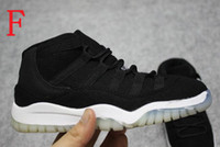 Wholesale Basketball Big Kids - Kids Retro XI Space Jam Basketball Shoes Big Children Boys Girls Preschool 72-10 Concord Bred Black Red White Sport Trainer Sneakers