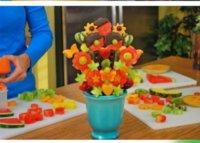 украшения для шеф-повара оптовых-Фруктовый торт овощной DIY украшения модель легкий инструмент для шеф-повара Женщина быстро лечит поп в секундах плесень украшения