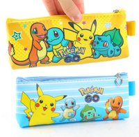 Wholesale Wholesale Bags Old Keys - Poke Go Coin Purse Pikachu PU Mini Coin Purse Key Cases Round Headset Bag Zipper Coin Bag