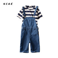 Wholesale Blue Jean Overalls Men - Wholesale- 2016 New Jeans Jumpsuits For Men Denim Overalls Men Blue Jean Shorts Denim Bib Overall Shorts For Men