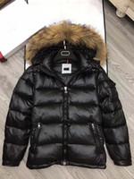 Wholesale Mens Stand Collar Jacket - M364 anorak men winter jacket hommes real raccoon fur parka winter coat mens winter jackets and big fur coats homme