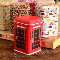 Wholesale Mini Caddy - Wholesale- Metal Little Tin Box Cute Caddy Cartoon Storage Practical Mini Iron Square Tin Box KT0376