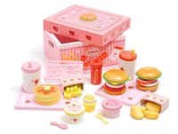 Wholesale Mother Garden Wooden Kitchen - Baby Toys Mother Garden Strawberry Simulation Hamburger Box Wooden Toy Potato Chips Cola Food Kitchen Toy Child Educational Gift