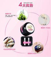 Wholesale Drill Uv - 10 pcs wholesale Japan Super Accessories Nail Gel Stick Drill Glue A nail sticking Transparent Plastic accessories Manicure Metal Jewelry