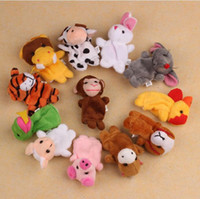 Wholesale Zodiac Hand Finger Puppets - Children 12 pcs Cute Animal Hand Puppet Toys Classic Children Hand Puppet Novelty Cute Dog Monkey Mouse Muppet Chinese Zodiac