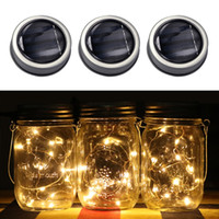 Wholesale Wholesale Lids For Glass Jars - Solar Mason Jar Lid Insert LED Fairy Mason Jar 1m Solar Light for Glass Mason Jars and Garden Decor Solar String Lights