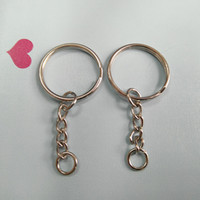 En gros Metal Split Keychain Ring Parties - 50 clés avec 25mm Open Jump Ring and Connector