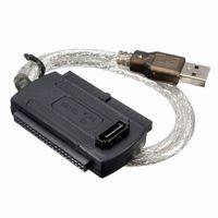 sata sürücü ide toptan satış-Yeni USB 2.0 - IDE SATA 2.5 3.5 Sabit Disk Dönüştürücü Kablosu