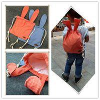 Wholesale Canvas Dots Backpacks For Girls - Kids Rabbit Ears canvas Backpack Children easter cartoon moldable rabbit casual bag parent-child bag 2colors for boys girls