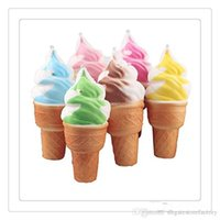 Wholesale Squeeze Ice - Kawaii Squishies Ice Cream Squishy Phone Straps 12PCS Soft Squishy Slow Rising Squeeze Squishies Toys Cell Phone Charms Kids Toy Cute Jumbo