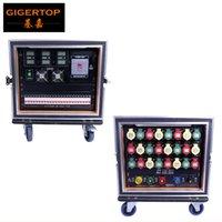 Wholesale Ip44 Plug - Gigertop Flightcase 9U Power Distribution Box 6m2 Delixi Power Cable 24 Road 32A Industrial Power Plug Waterproof IP44 CE ROHS