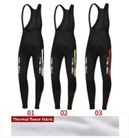 Wholesale Thermal Tights Cycling Team - Hot 2014 Male Thermal Fleece Winter Warm Bib Pants Pro Team Cycling Bib Pants  tights Cycling Bike Racing Ciclismo Clothing Bike Strap Pants