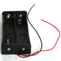 ingrosso alimentazione di batteria al litio-Supporto della scatola caso di immagazzinaggio della batteria di DIY 2pcs per il supporto della batteria al litio di 2 * 18650 alimentazione elettrica 7.4V di alta qualità DHL libero