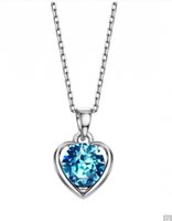 Wholesale Teens Wholesale Jewelry - Blue Heart Love Gifts Chokers Necklaces & Pendants For Neoglory Women New 2017 Teen Girls Charm Fashion Jewelry