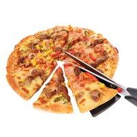 шпатель для пиццы оптовых-Популярные пицца ножницы резак лоток Slicer делитель из нержавеющей стали пицца лопата ножницы блин резак шпатель пицца выпечки инструменты KCA1106