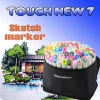 Wholesale Sketching Sets - 80 Colors sketch markers Dual Head Professional Art markers Set For Manga Marker stabilo Office school supplies