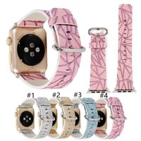 Wholesale Leather Bracelet Flash - 2017 Flash powder Leather Watch Band Wrist Diamond Lattice Bracelet Watch Strap Replacement For Apple Watch iWatch Watchband 38mm 42mm