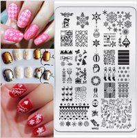 Produits De Décoration En Acier Inoxydable Pas Cher-Vente en gros- Nouveaux produits MR02 décoration de Noël DIY Nail Art design Stamp Stamping9.5 * 14.5CM Stainless Steel Image Plate Template