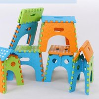 Plastic outdoor plastic chair - Folding Step Stool Originality Children Mini Plastic Chair Portable A Variety Of Colors Household Outdoors Seat Hot Sell hy J R