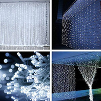Wholesale Led Curtain Decor For Wedding - Xtong 3*3m 6*3m Curtain lights 10m*0.65 Icicle Lights, String Lights for Home Flash Fairy Festival Party Christmas wedding Decor